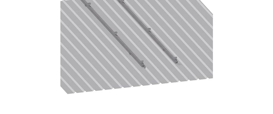 Estructura Cubierta Metálica 1 panel