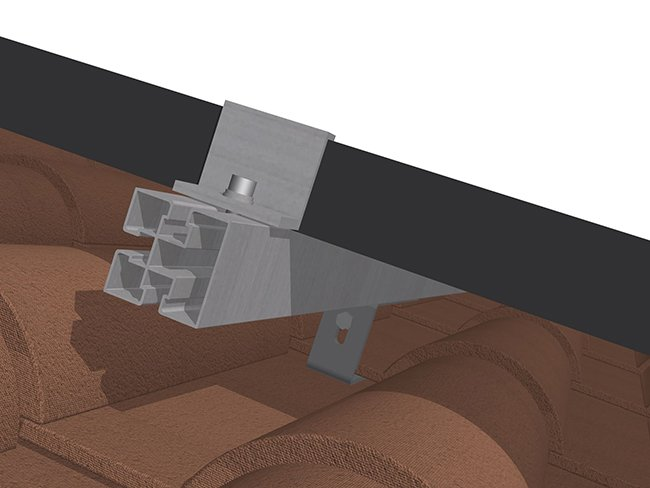 Estructura Cubierta Tejas 15 Ud Kht915