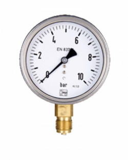 Manómetro Agua Limpia hasta 16Bar 63mm