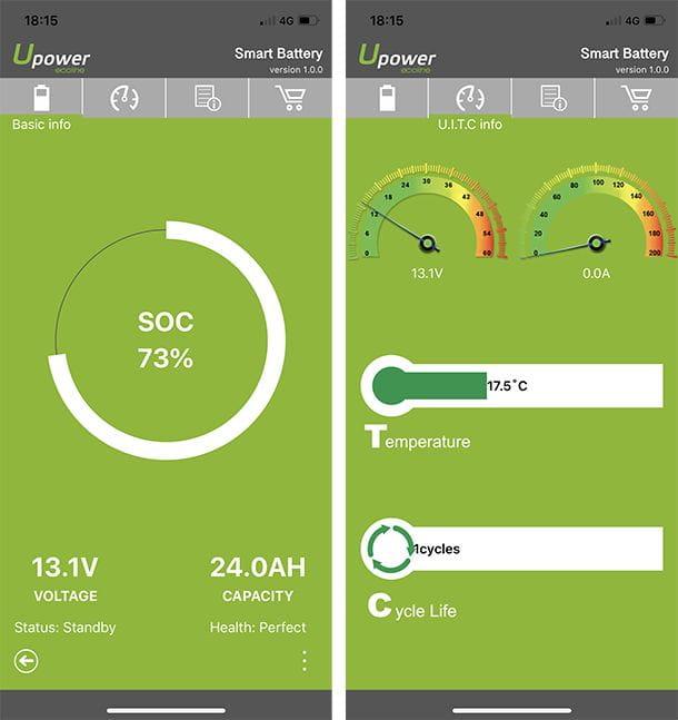 Capturas App Batería Litio Upower