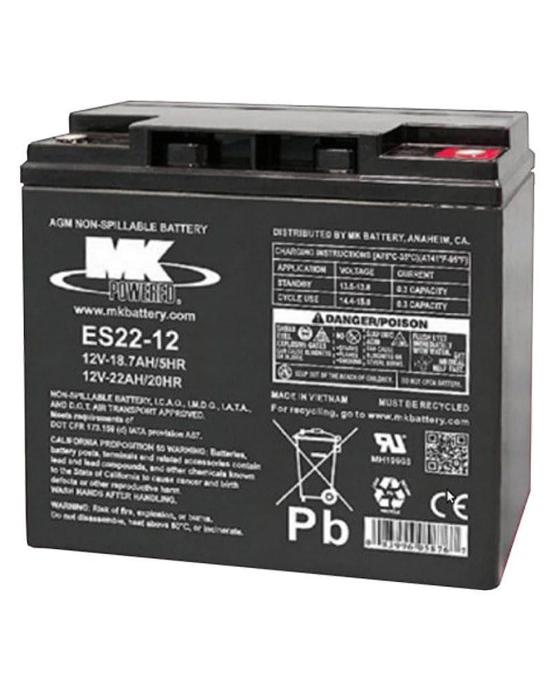 Batería AGM 22Ah 12V MK Powered
