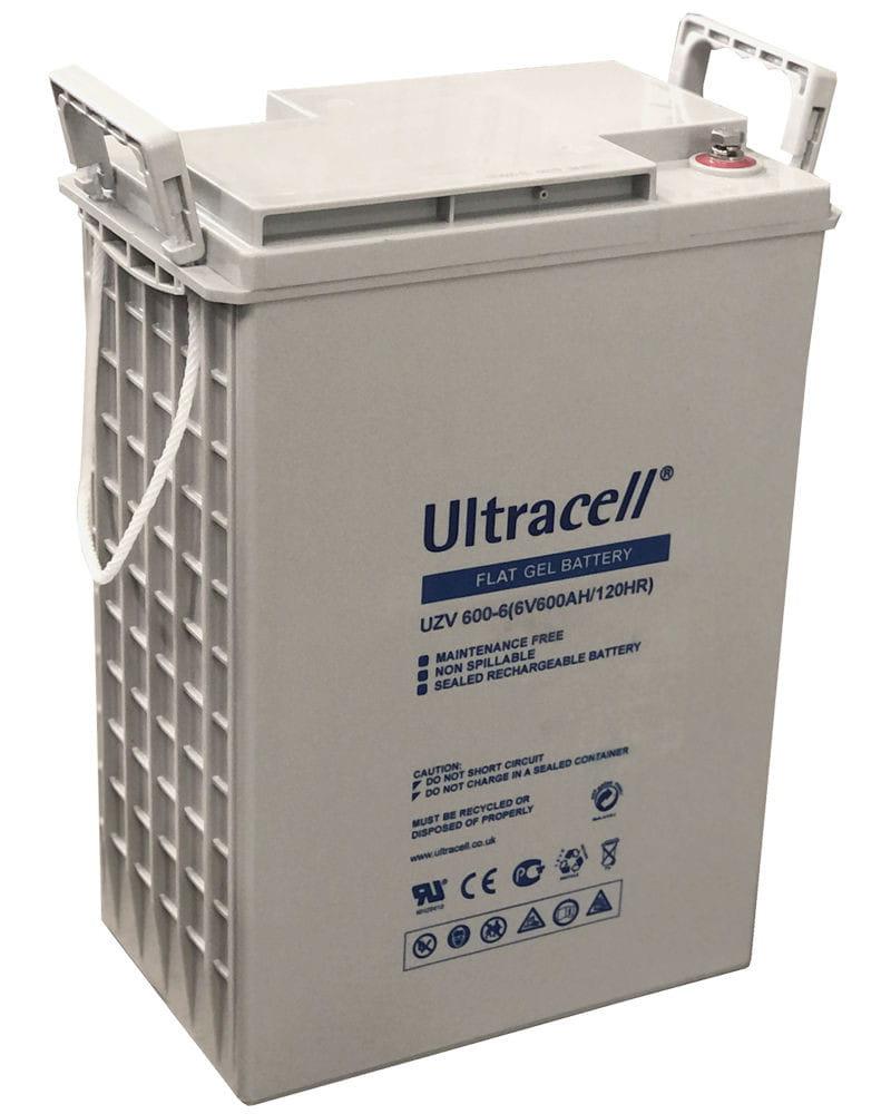 Batería Estacionaria Gel 600Ah 6V Ultracell UZV600-6