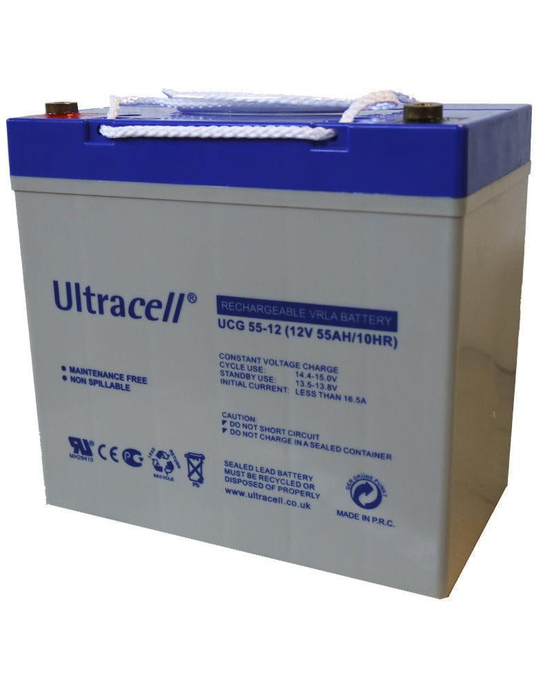 Batería GEL 12V 55Ah Ultracell UCG-55-12
