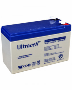 Batería GEL 12V 7,2Ah Ultracell UCG-7,2-12