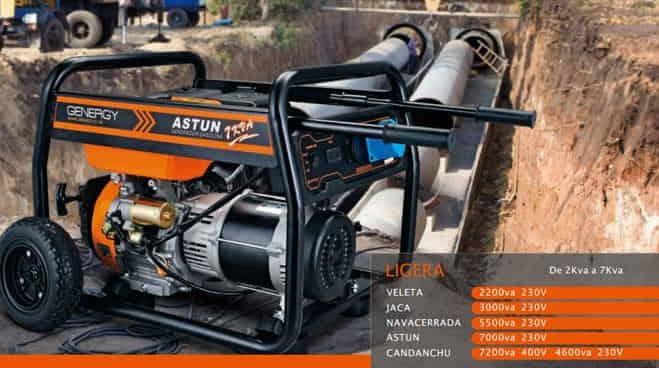 La calidad de la corriente entre el generador y los equipos