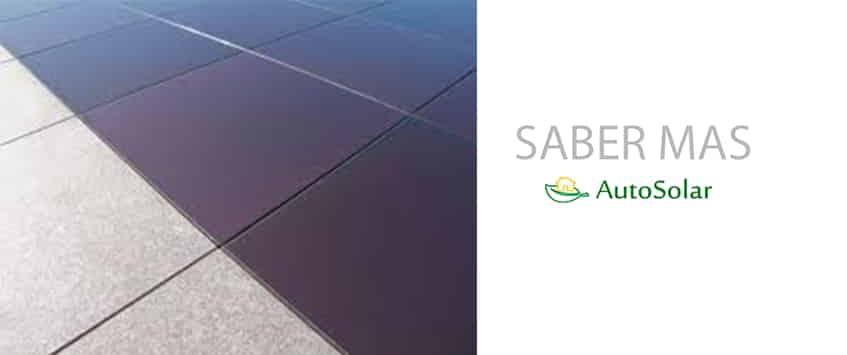 El nuevo suelo fotovoltaico