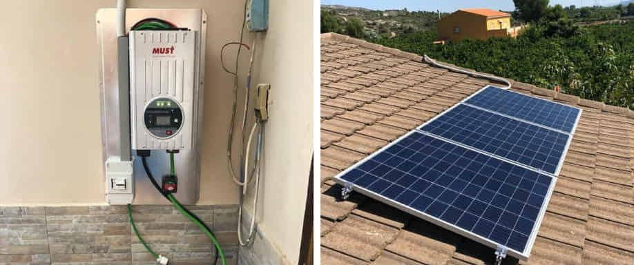 Instalación Solar con batería de GEL UCG-316 Ultracell