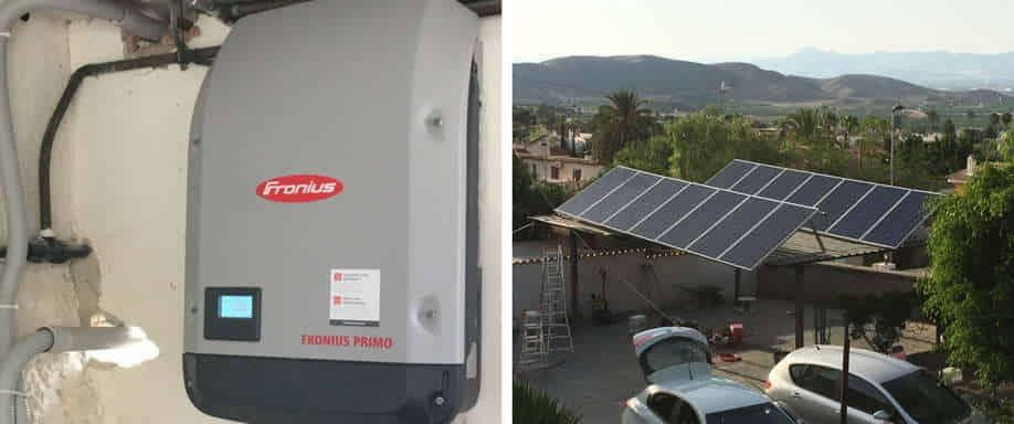 Instalación fotovoltaica Alicante