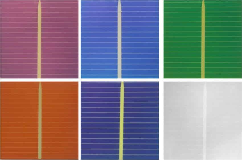 Paneles solares de colores para las fachadas de India