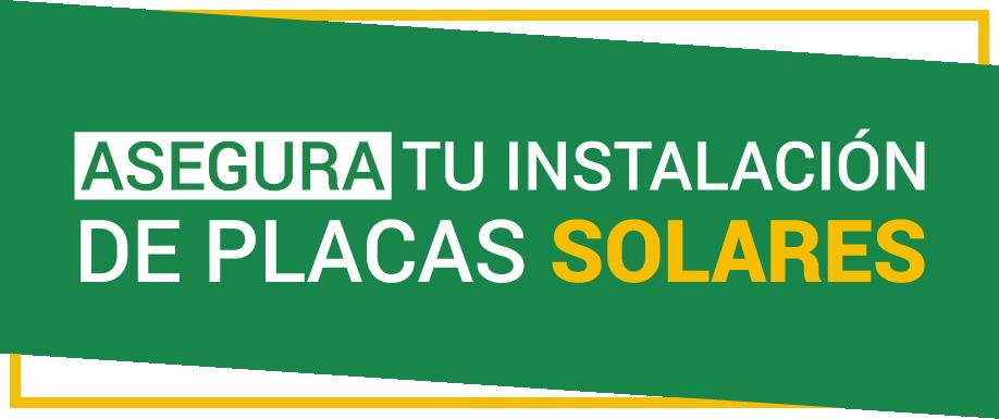 Seguro placas solares