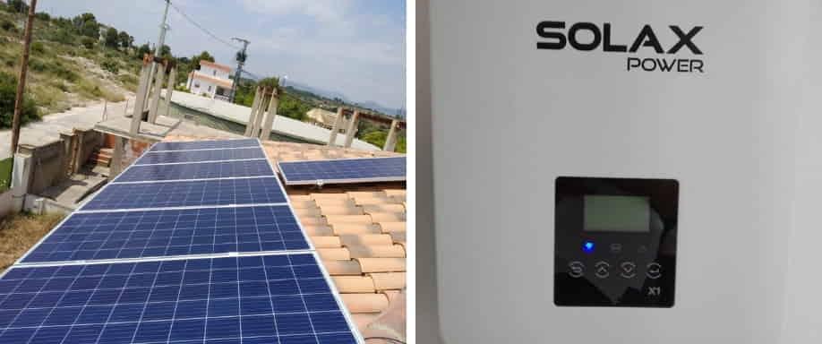 Instalación kit solar de conexión a red al sur de Castellón
