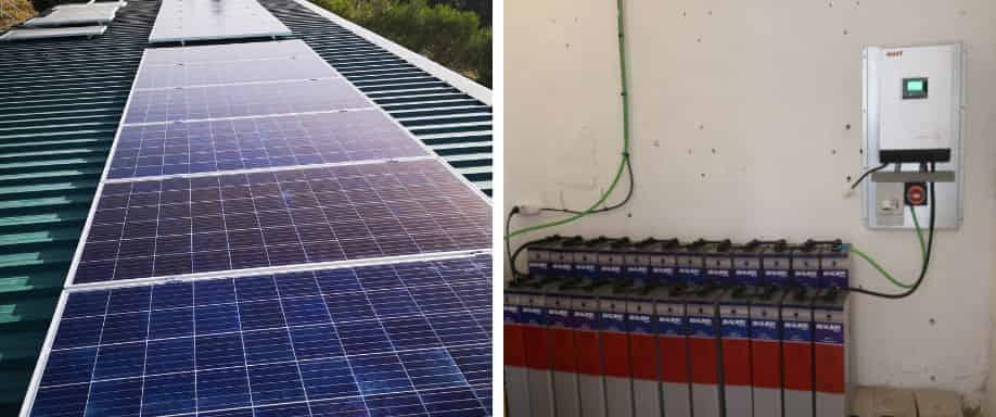 Instalación solar con baterías TOPzs Bauer en Madrid