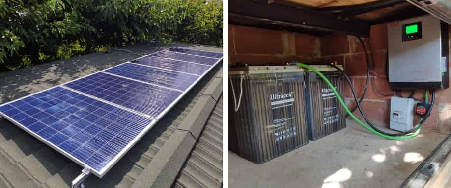 Instalación fotovoltaica Castilla la Mancha de kit solar aislado de la red eléctrica