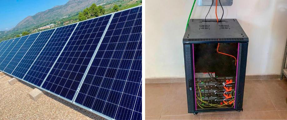 Instalación solar con inversor Voltronic y baterías Pylontech en Alicante