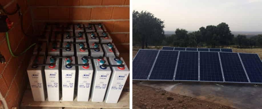 Instalación fotovoltaica en Cáceres