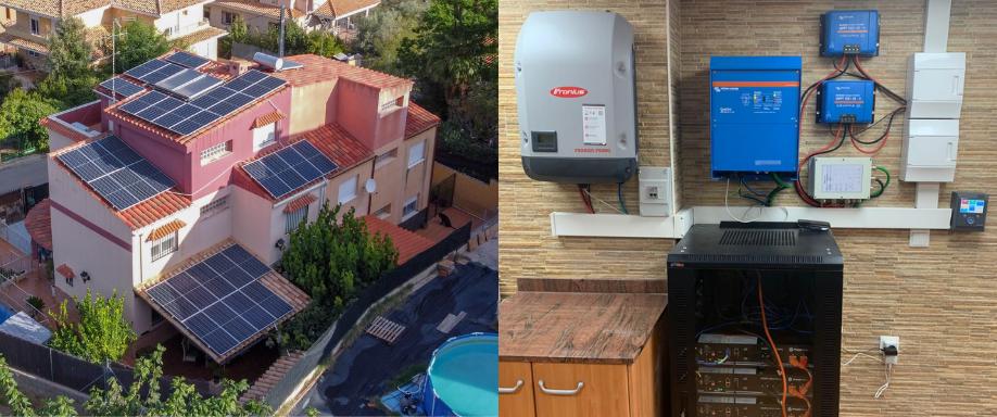 Instalación fotovoltaica autoconsumo con Victron y Fronius