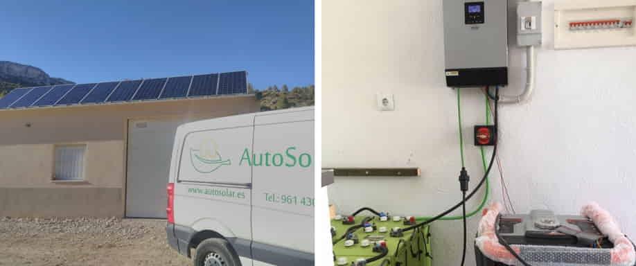 Instalación Fotovoltaica con Gererador en Teruel