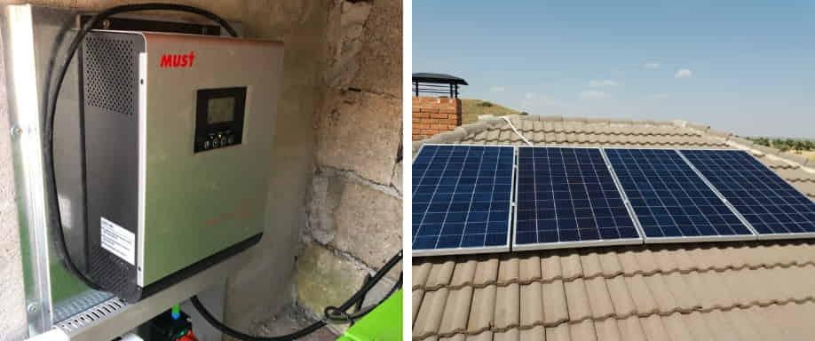 Instalación fotovoltaica cerca de Toledo