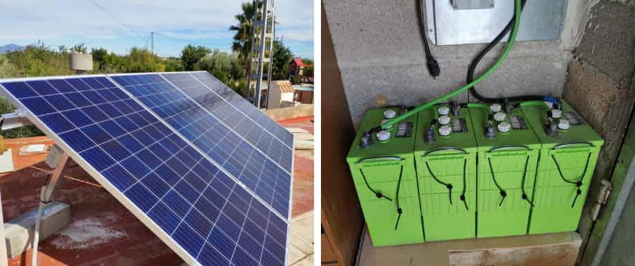 Instalación fotovoltaica en las proximidades de Valencia