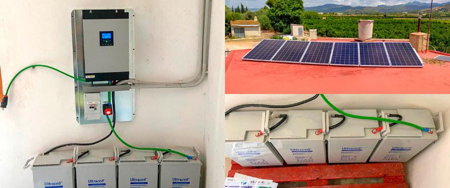 Instalación kit solar aislada con inversor Voltronic en Valencia