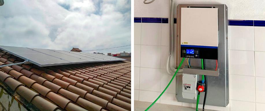 Instalación solar en Valencia con inversor híbrido y baterías