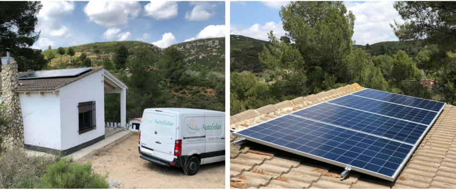 Instalación Solar Kit Casa de Campo interior Valencia