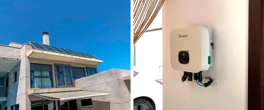 Instalación solar con inversor Growatt en Valencia