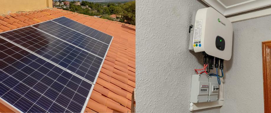 Instalación kit solar con inversor Growatt Valencia