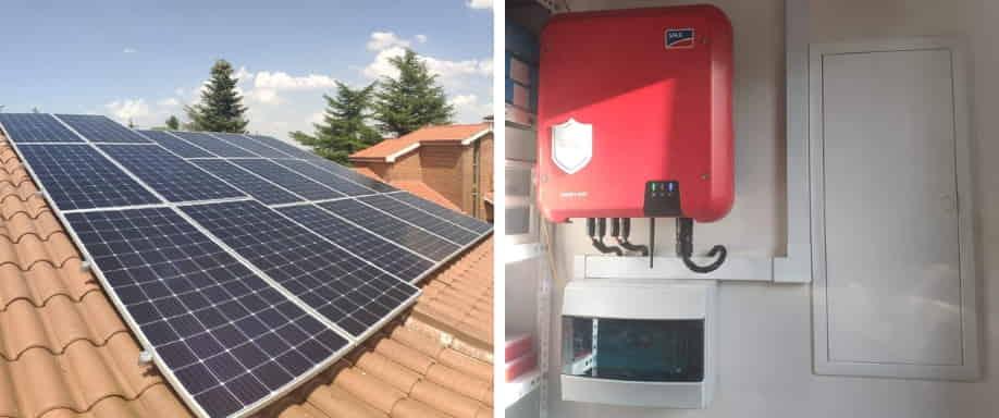 Instalación fotovoltaica de conexión a red Madrid