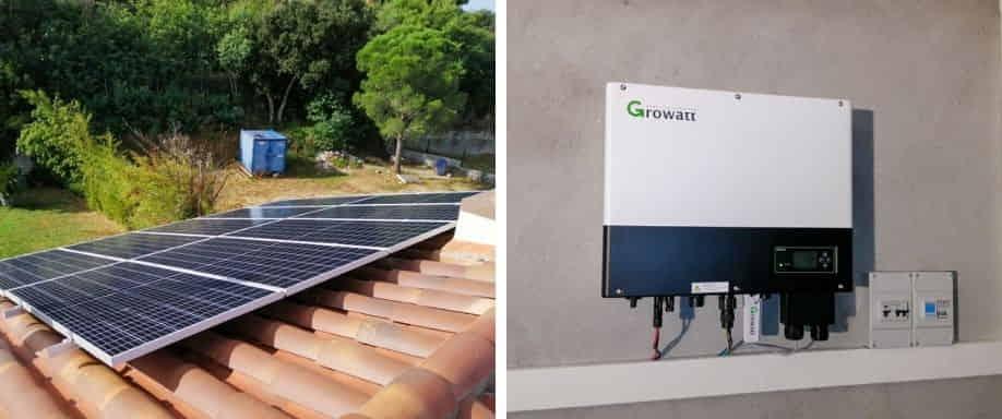Instalación kit solar red con Growatt en Girona