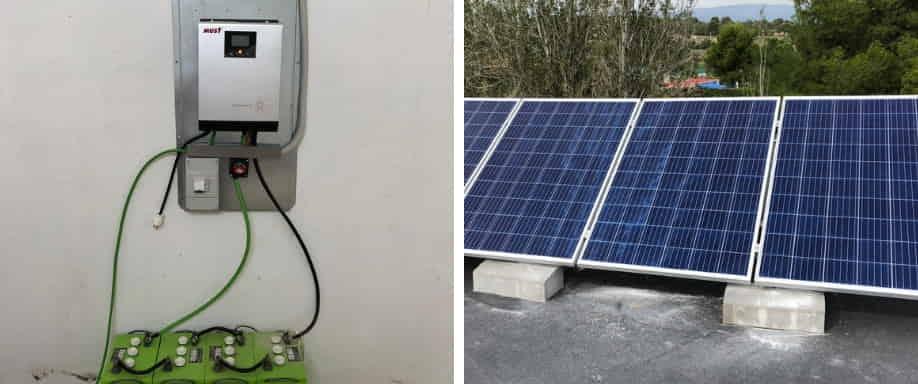 Instalación Fotovoltaica Aislada de la Red Eléctrica en la Comunidad Valenciana