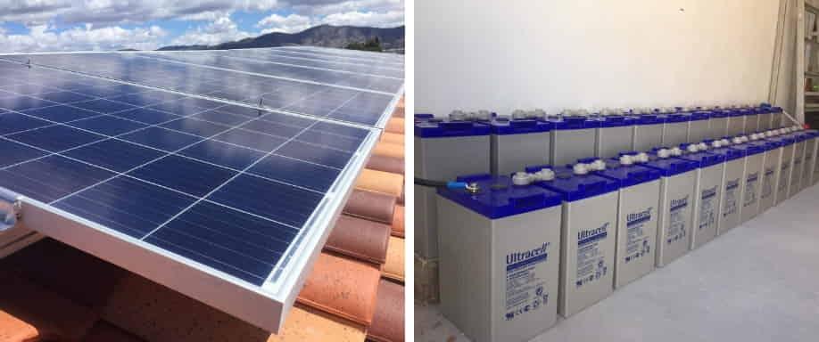 Instalación fotovoltaica kit aislado de la red eléctrica Alicante