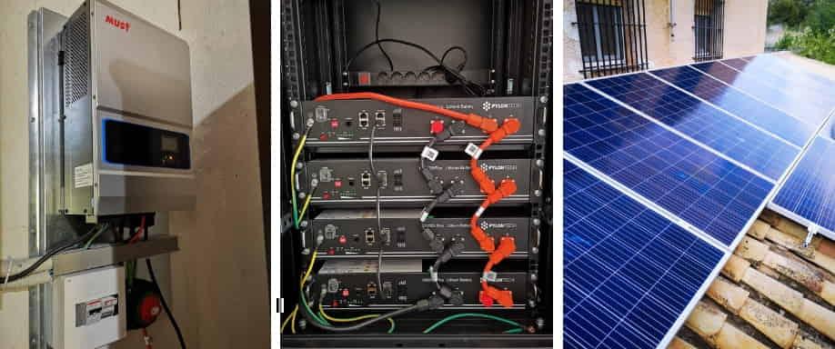 Instalación kit solar vivienda aislada de la red eléctrica en Alicante