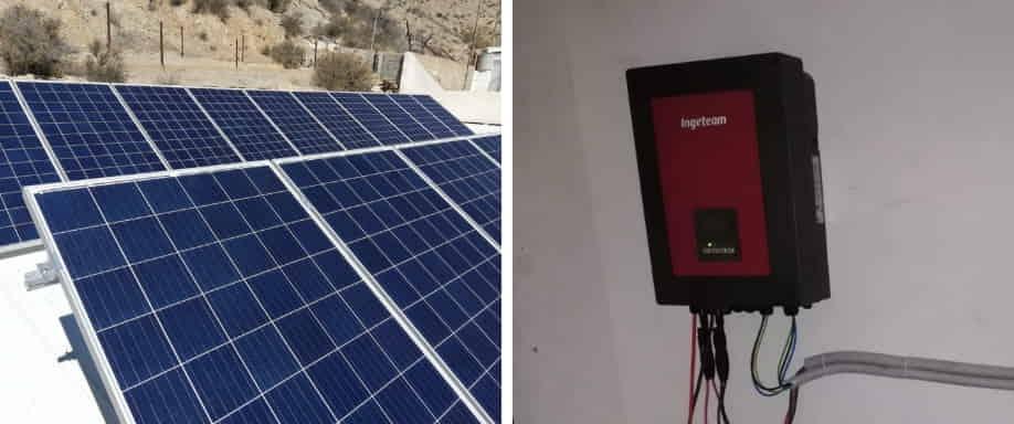 Instalación solar conexión a red Almería