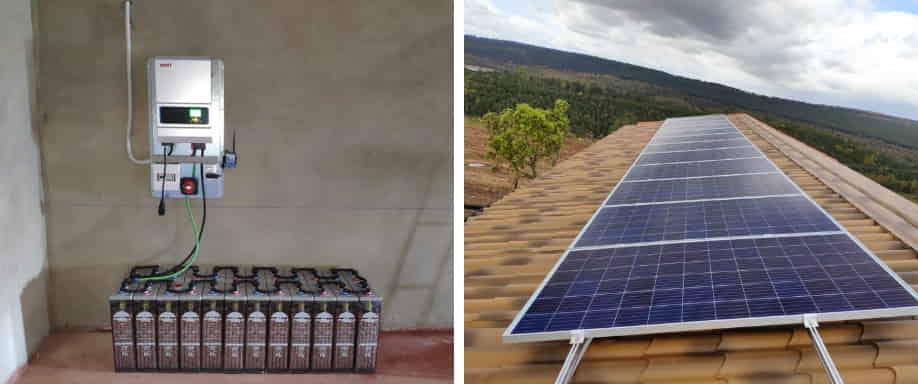 Instalación solar vivienda aislada de la red eléctrica Cáceres