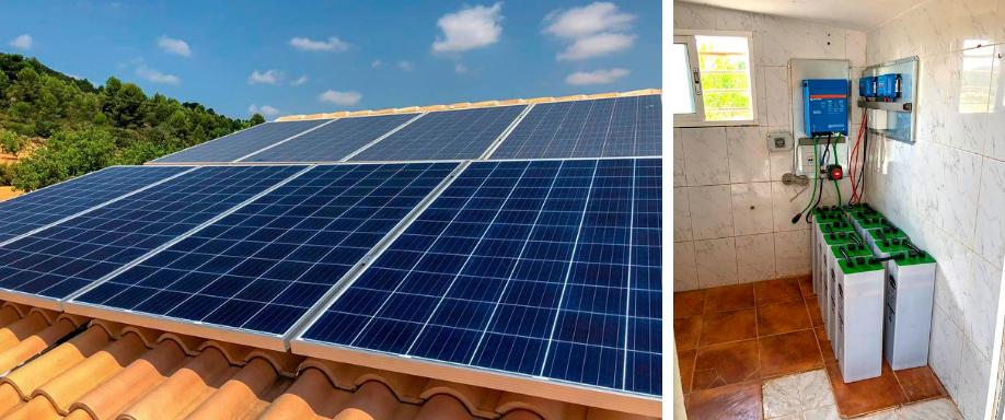 Instalación solar en Valencia con inversor Victron Energy