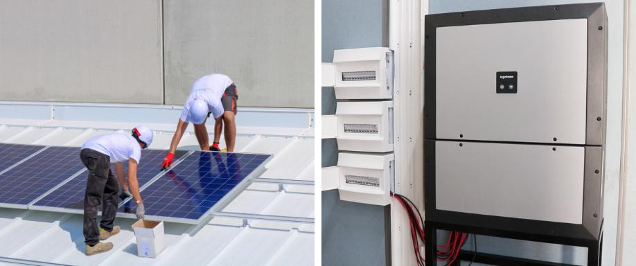 Instalación solar empresa valenciana