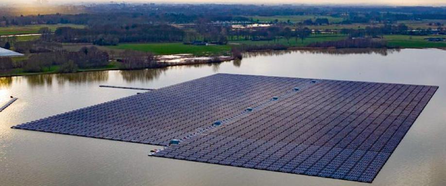Planta solar flotante más grande del mundo en los Países Bajos