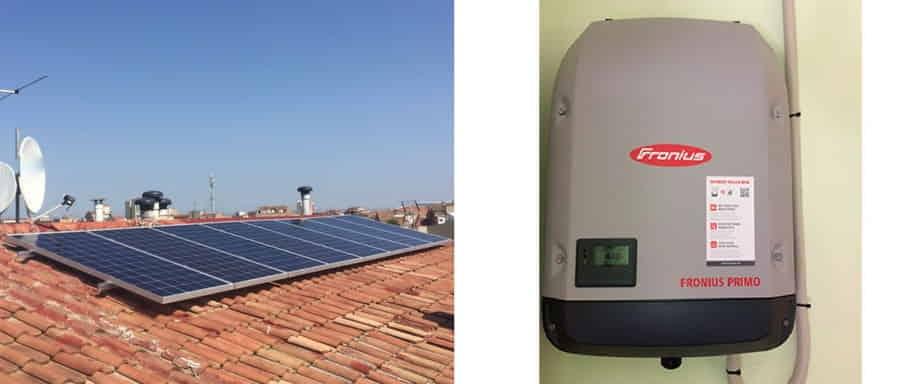 Instalación fotovoltaica conexión a red Lleida