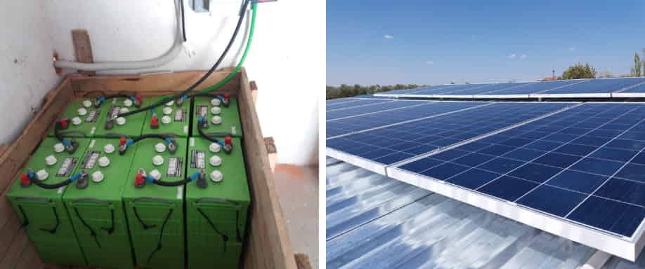 Instalación fotovoltaica en las proximidades de Madrid