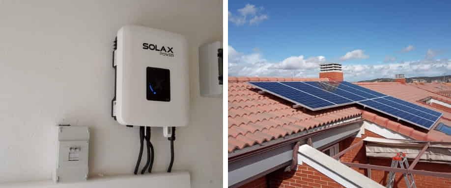 Instalación solar conexión a red Madrid