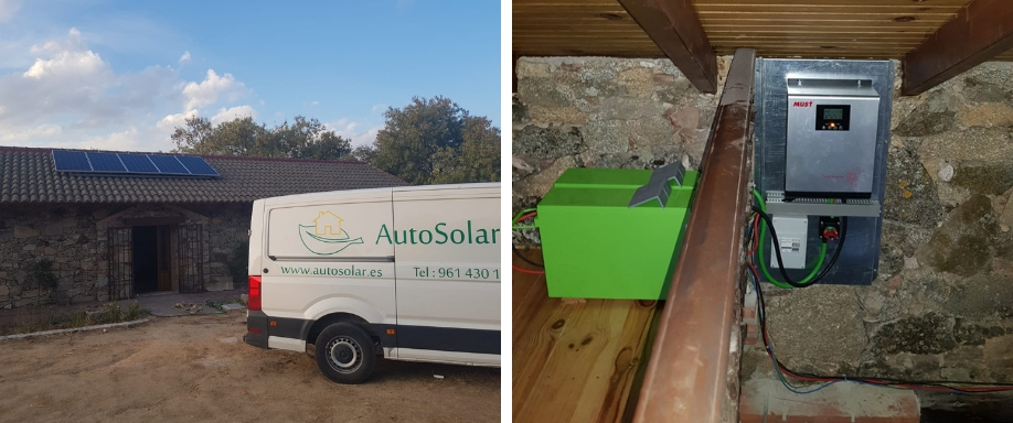 Instalación Solar Fotovoltaica en las proximidades de Madrid