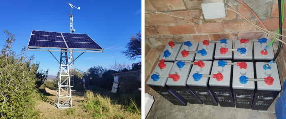 Instalación Fotovoltaica en Valencia de Kit Solar Aislado de la Red Eléctrica
