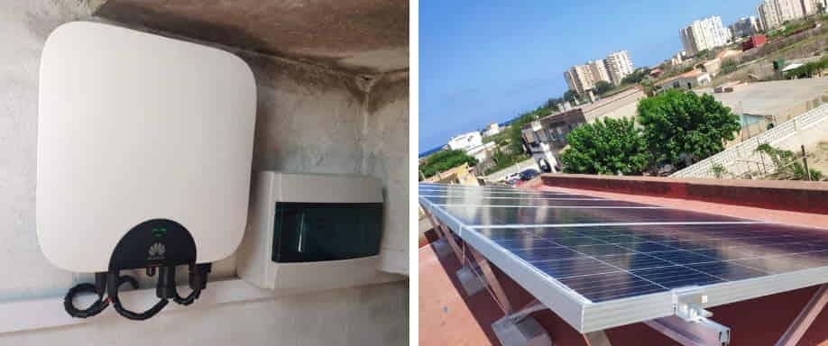Instalación kit solar conexión a red en la costa valenciana