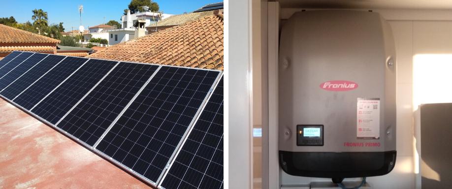 Instalación solar en Valencia de kit solar de conexión a red