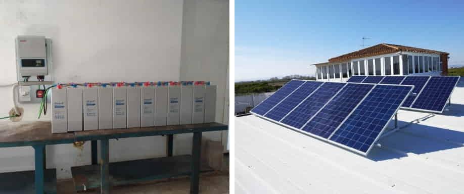 Instalación solar para vivienda aislada de la red eléctrica en Valencia