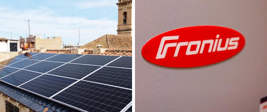 Instalación en Valencia de kit solar de conexión a red trifásico con Fronius