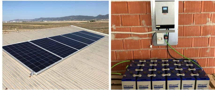 Instalación Kit Solar personalizado Murcia con baterías Ultracell