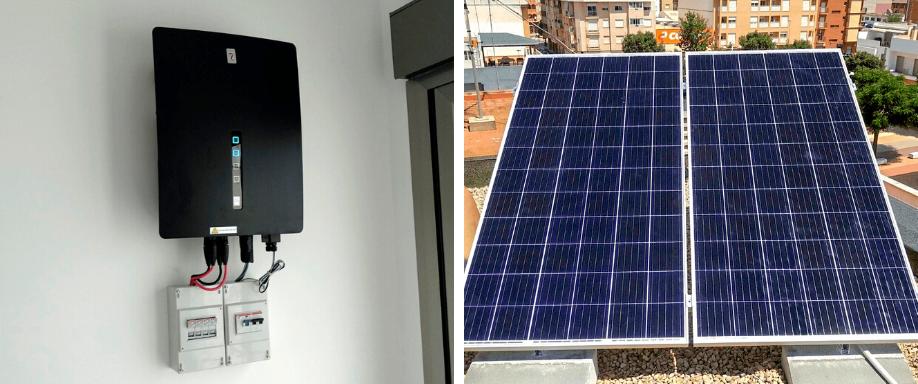 Instalación kit solar para vivienda unifamiliar