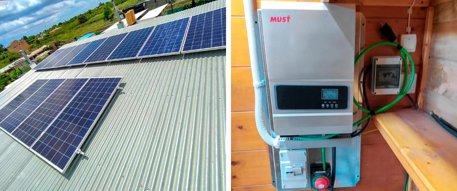 Instalación solar con inversor Must Solar en Castellón